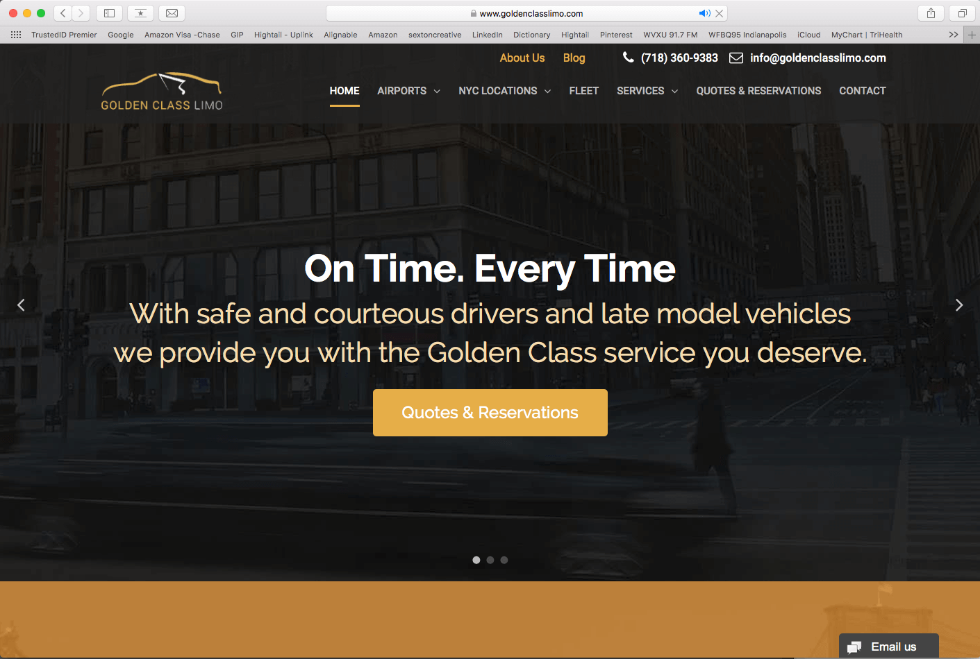 Web Design for Transportation Services