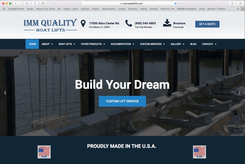 Web Design for Marine Company